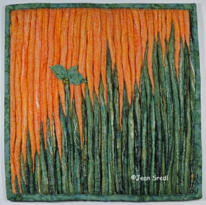 Abstract felted trees